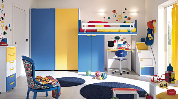 children's bedrooms with bright cheerful colours | idesignarch