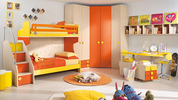 Designed by Colombini Children s Bedrooms With Bright Cheerful Colours  iDesignArch