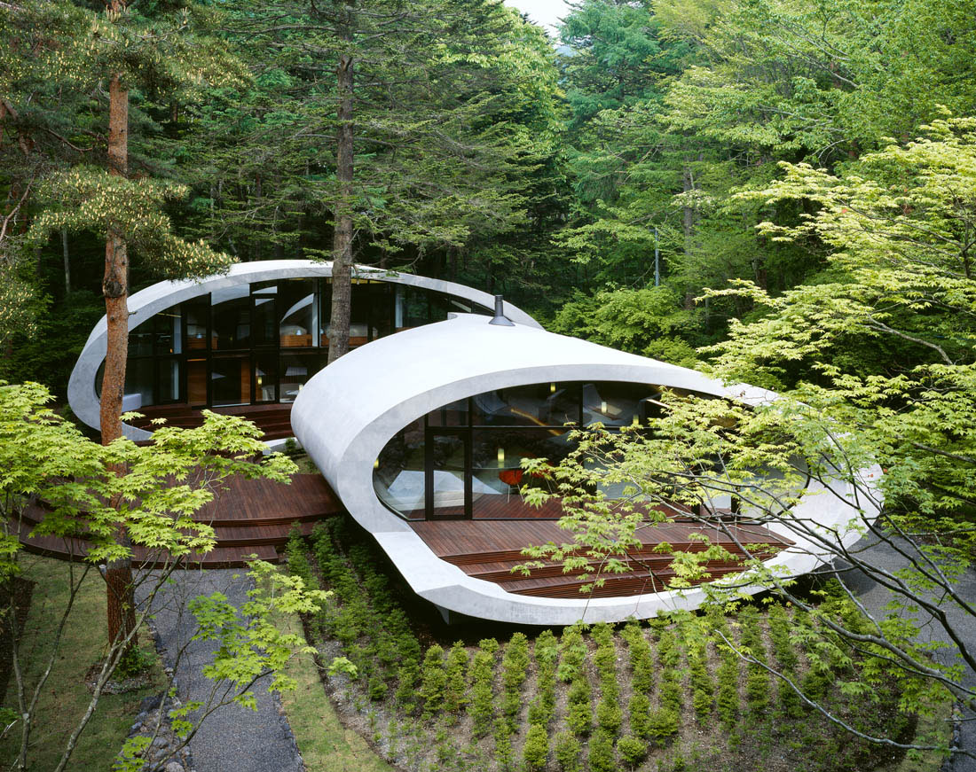 Concrete Shell Villa In The Forest Concrete