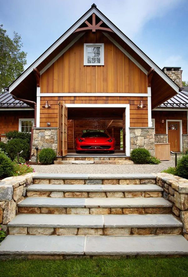 Luxury Home Garage With Car Elevator In Connecticut