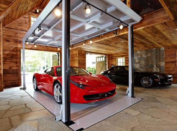 Modern House Car Elevator Garage