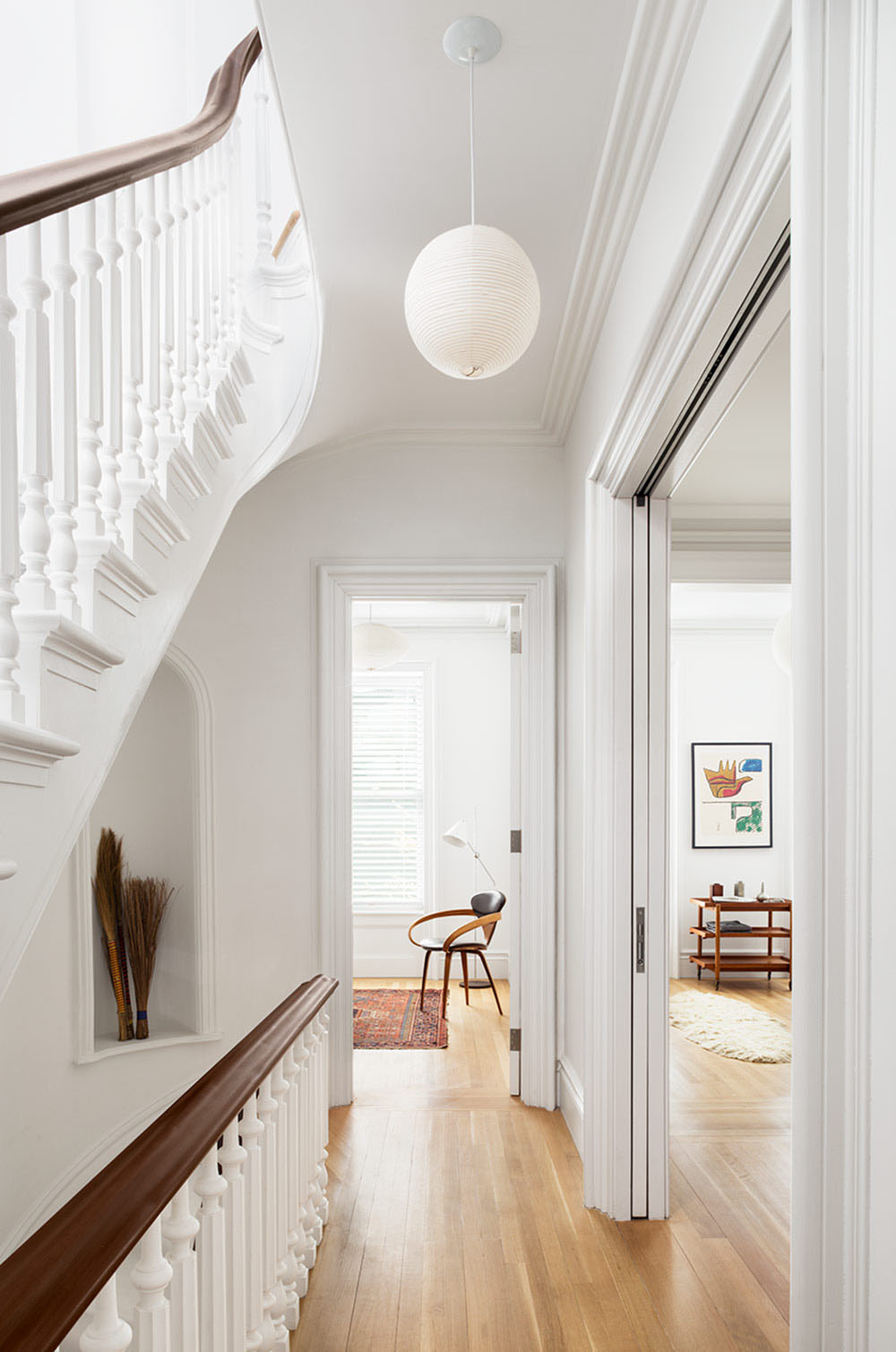 Interior: Restored Brooklyn Brownstone House With Fresh Contemporary