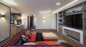 Contemporary Chic Apartment with Roche Bobois modular sofa