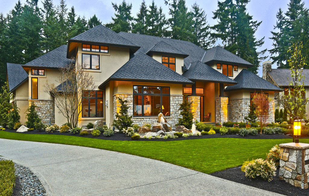 contemporary country house in bellevue - Country House Style