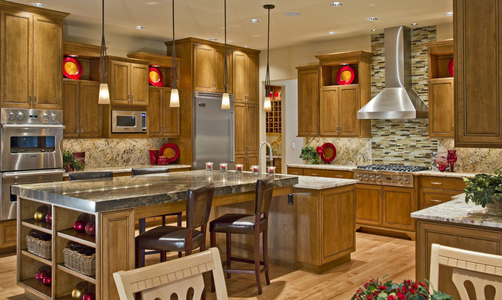 Contemporary country home in bellevue idesignarch for Country kitchen home plans