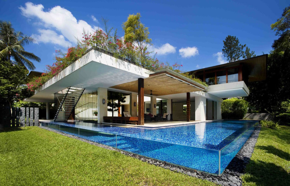 Contemporary Courtyard House In Singapore | iDesignArch | Interior ...