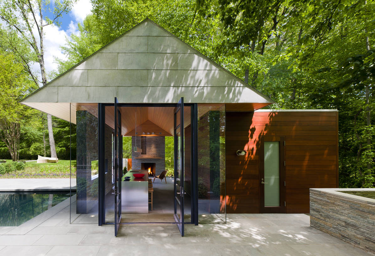 Contemporary Garden Pavilion Pool House | iDesignArch | Interior ...
