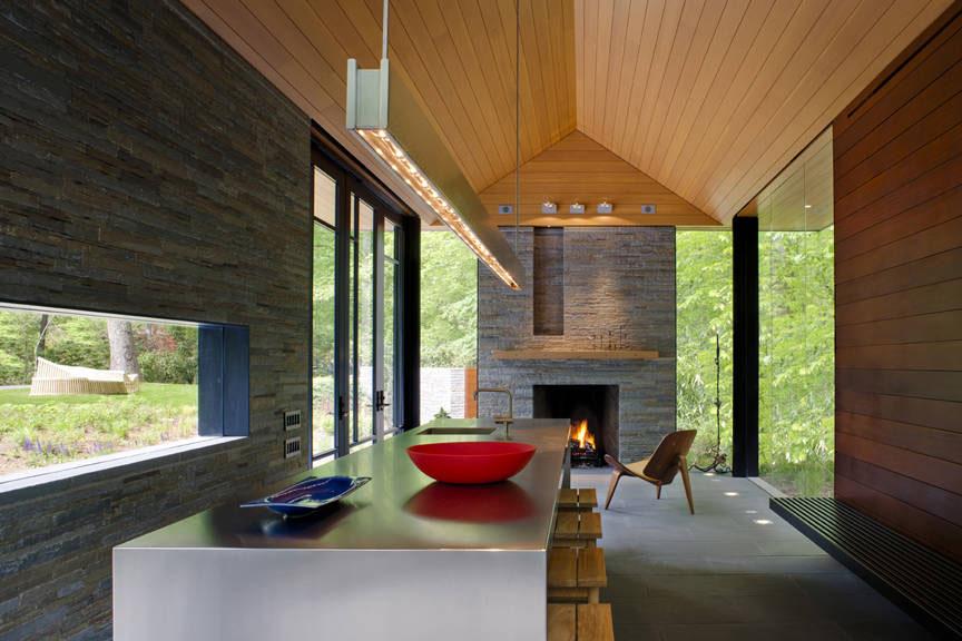 Contemporary garden pavilion pool house idesignarch for Zen pool design