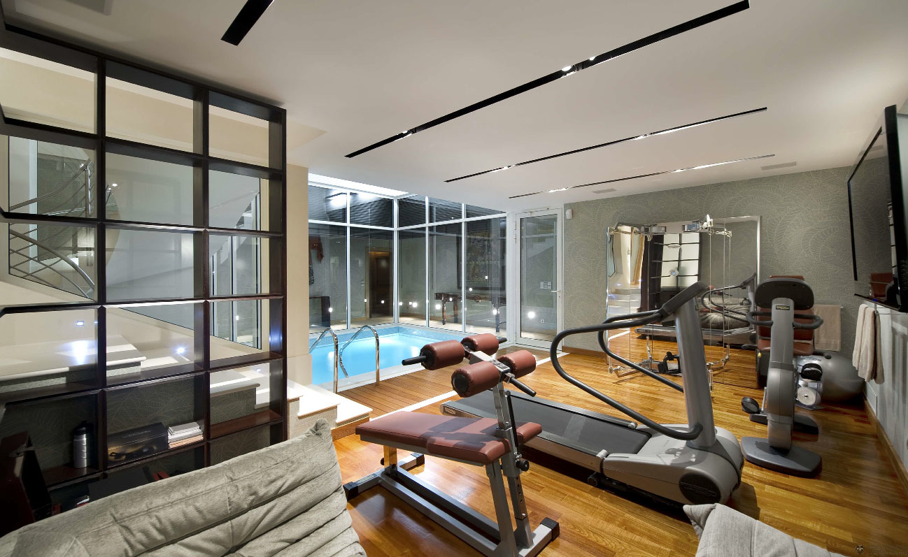 Home Gym Design: Contemporary Ocean View Villa In Côte D'Azur