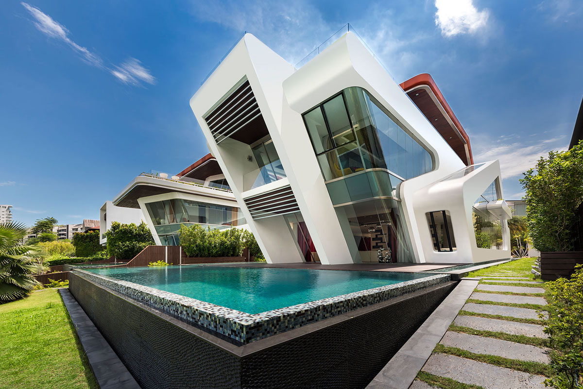 One of a Kind Modern Residential Villa in Singapore ...