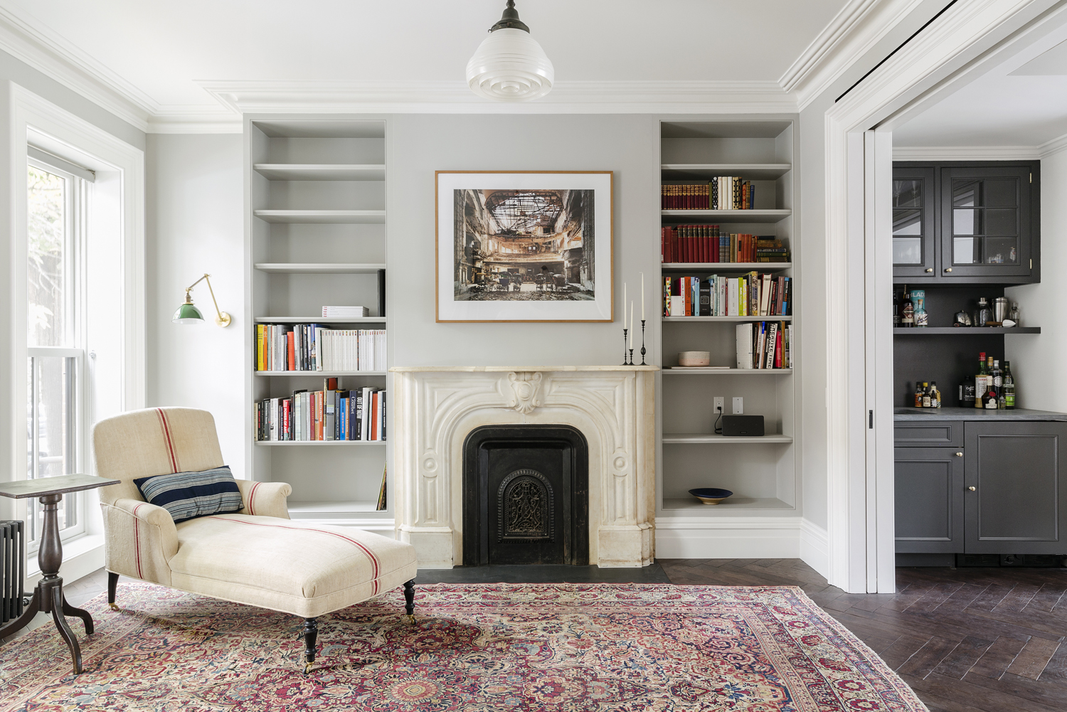 Brooklyn Townhouse Renovated Living Room