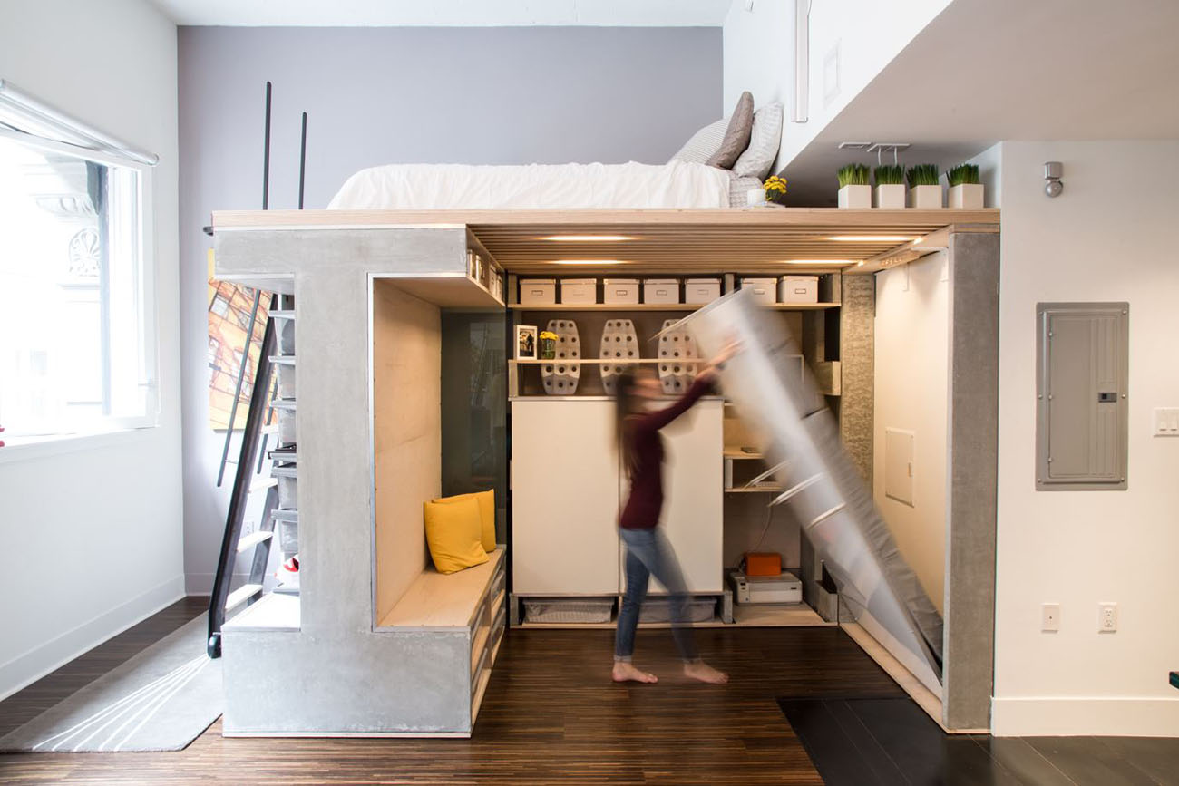 Pre-Fabricated Custom Designed Small Loft In San Francisco ...