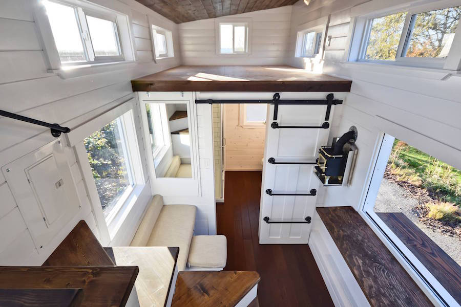 Custom Mobile Tiny House With Large Kitchen And Two Lofts