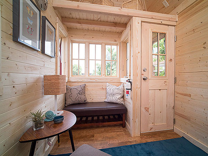 gorgeous 172 square foot tiny house with great use of space - Tiny House Interior 2