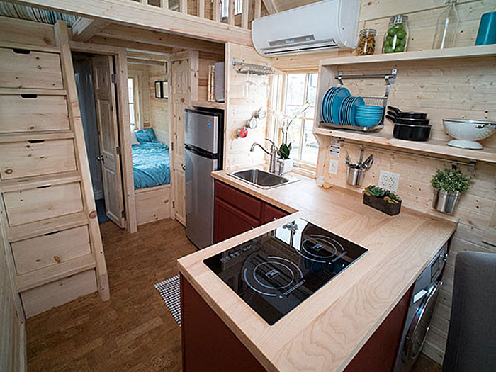 Gorgeous 172 square foot tiny house with great use of for 24 ft tiny house