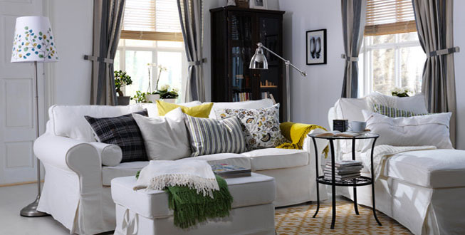 Decorating ideas for living rooms from ikea idesignarch for Small living room ideas ikea