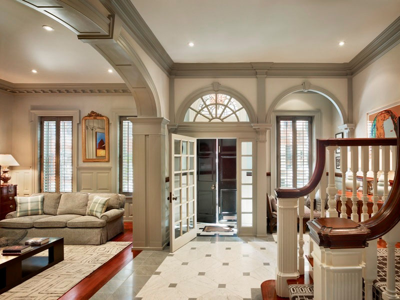 Town home with beautiful architectural elements Beautiful interior home designs