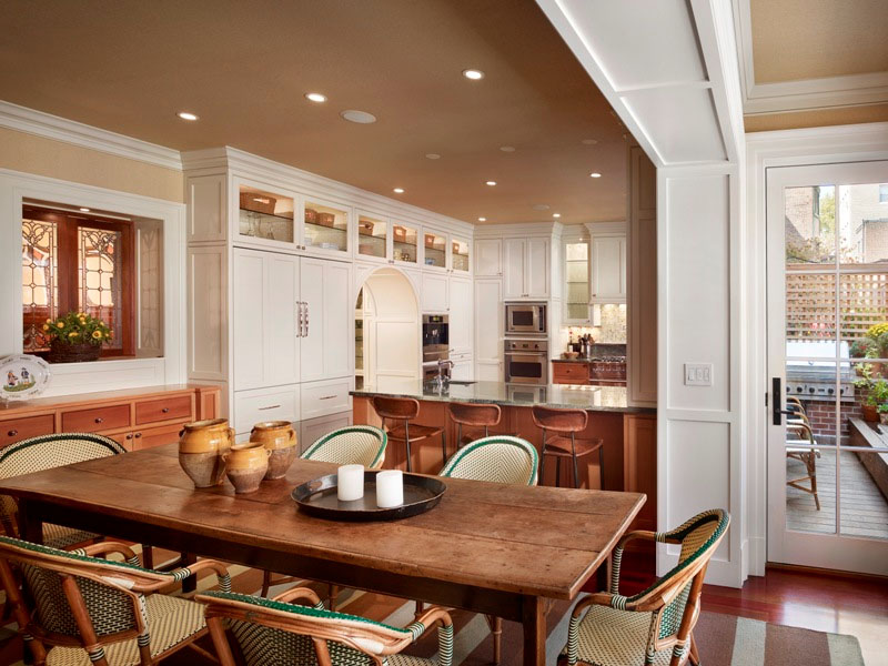 Attractive Home Interior Ideas: Town Home With Beautiful Architectural Elements