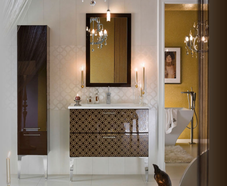 Unique Modern Bathroom Designs : Unique glossy modern bathroom design huntto