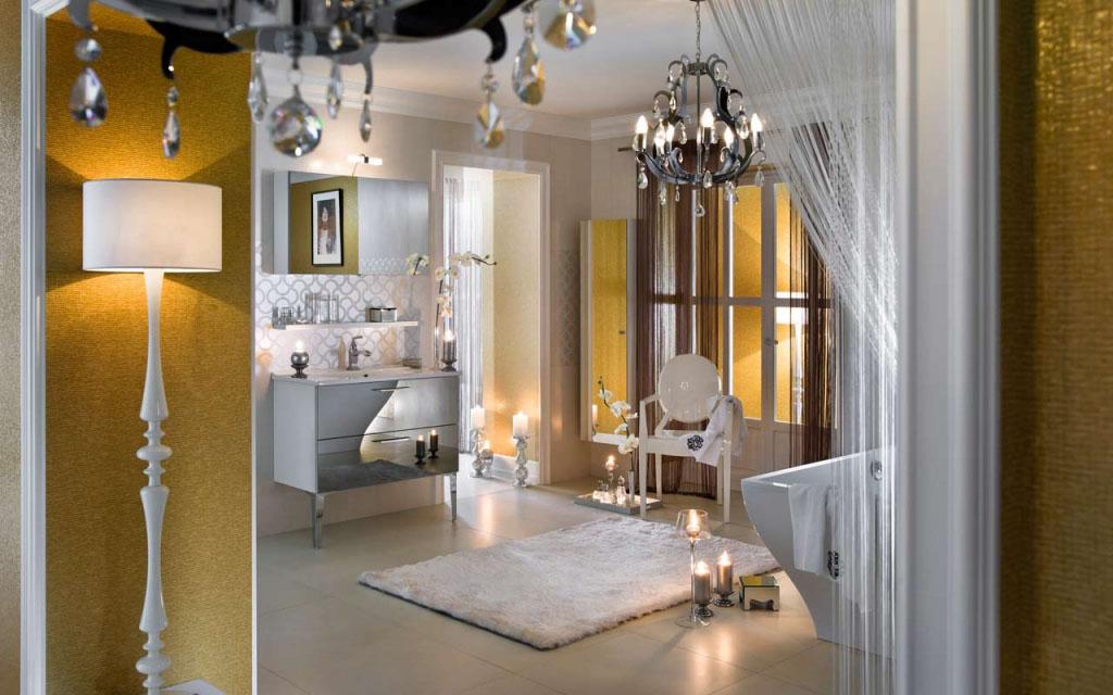 Pleasing Unique Glossy Modern Bathroom Design Idesignarch Interior Largest Home Design Picture Inspirations Pitcheantrous