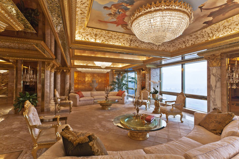 inside donald and melania trumps manhattan apartment mansion - Manhattan Penthouse Apartments