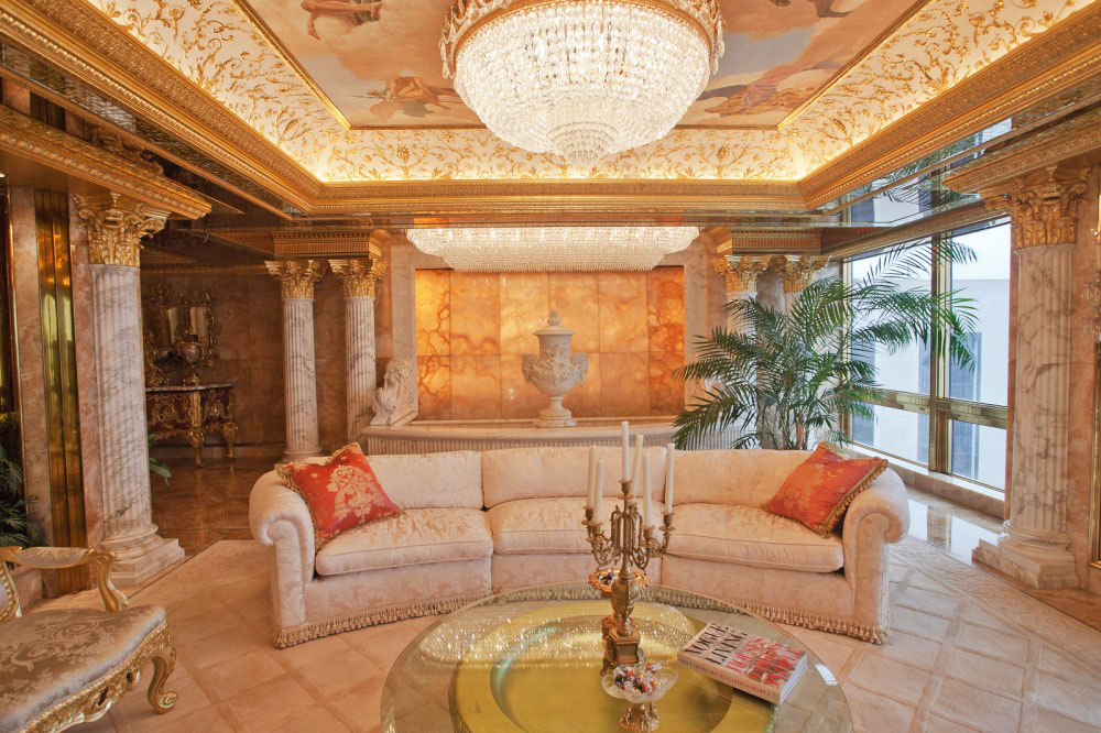 Inside Donald Trump's Manhattan Apartment Mansion ...