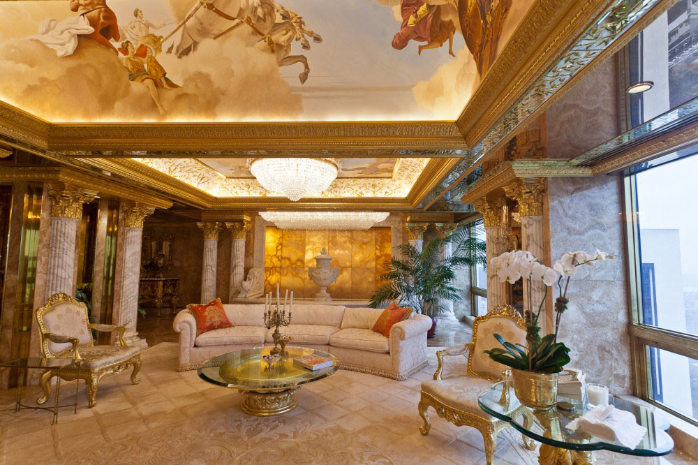 Inside Donald And Melania Trump S Manhattan Apartment Mansion Idesignarch Interior Design