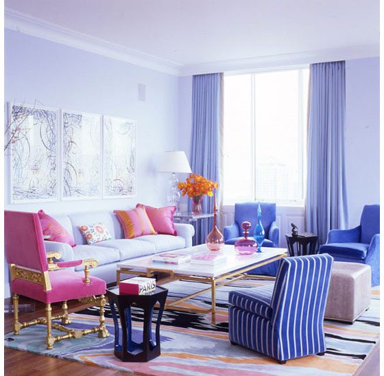 Apartment in new york uses vivid colours to create a sense of freshness idesignarch interior Apartments using pastel to create dreamy interiors