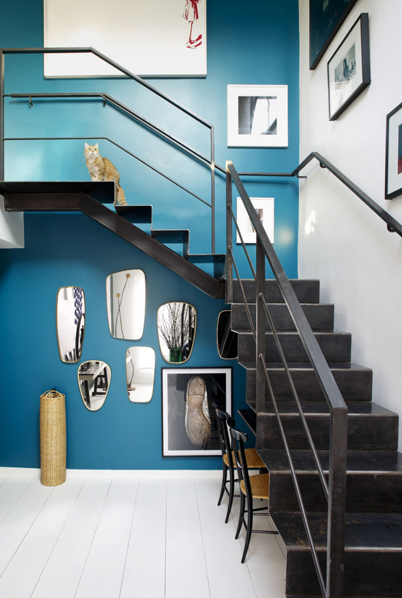 Modern Paris Apartment Staircase