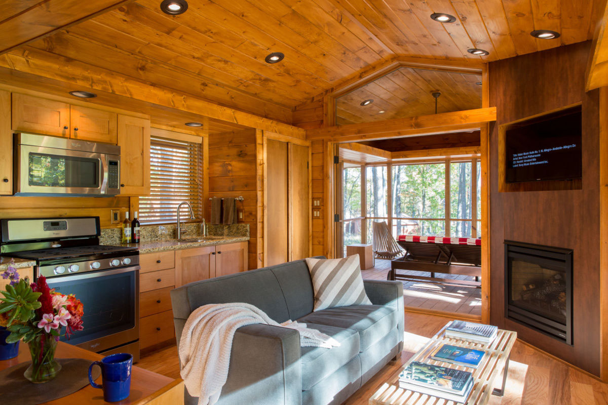 Charming tiny cabin vacation home idesignarch interior - Tiny house living room ...