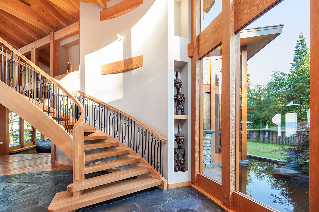 Modern Wood Spiral Staircase