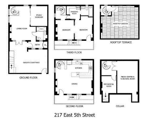 East village carriage house with modernist interiors Carriage house floor plans