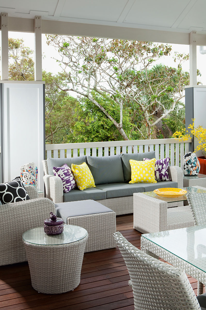 Cozy Coastal Covered Patio