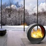 Movable Contemporary Fireplace