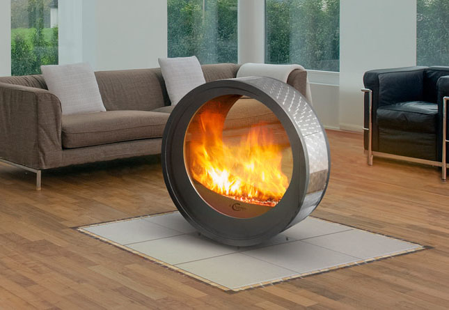 Movable Contemporary Fireplace Idesignarch Interior