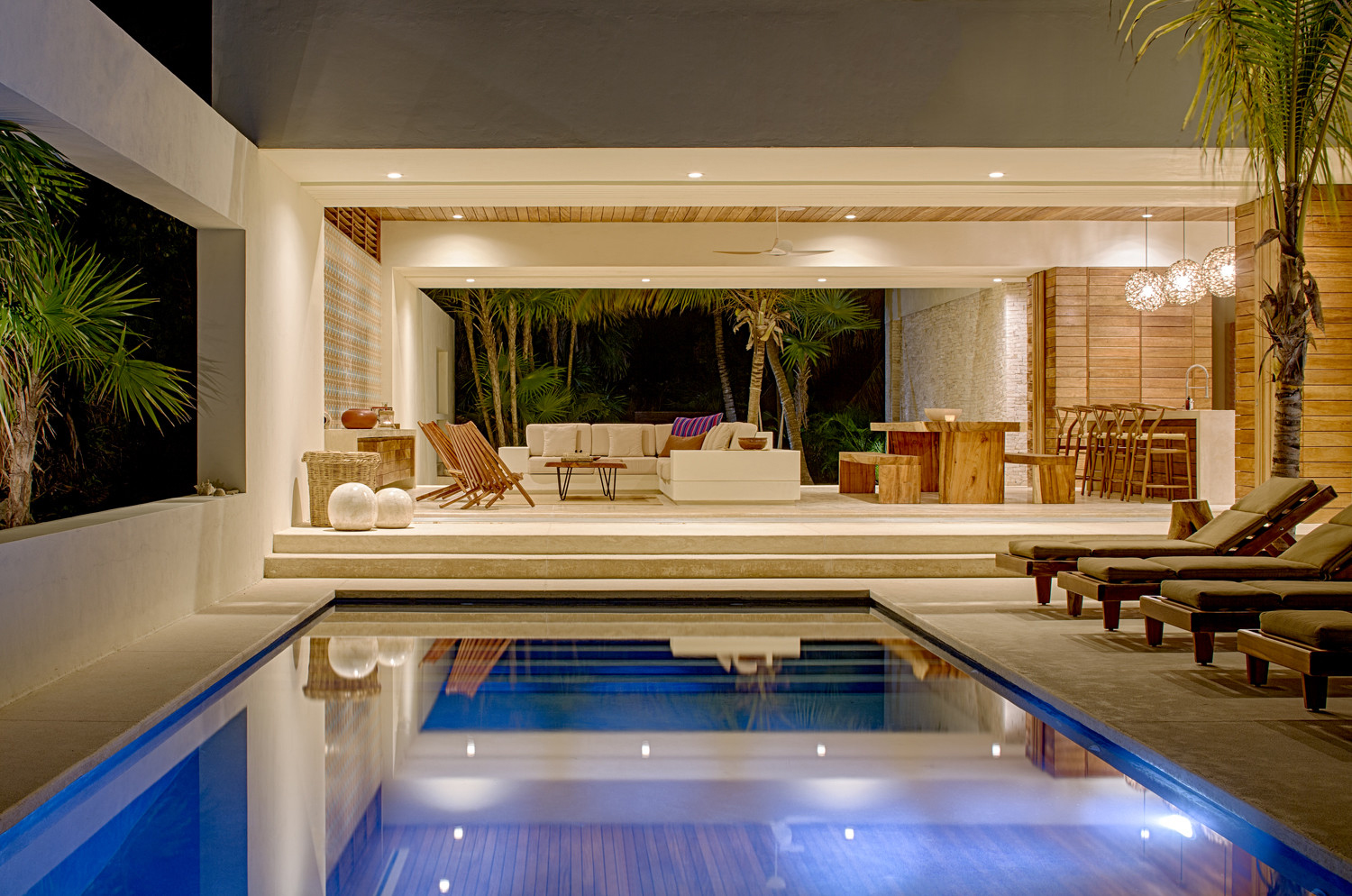 Poolside Living Room