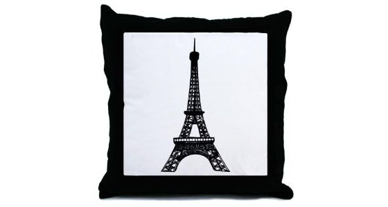 Eiffe-Tower-Throw-Pillow