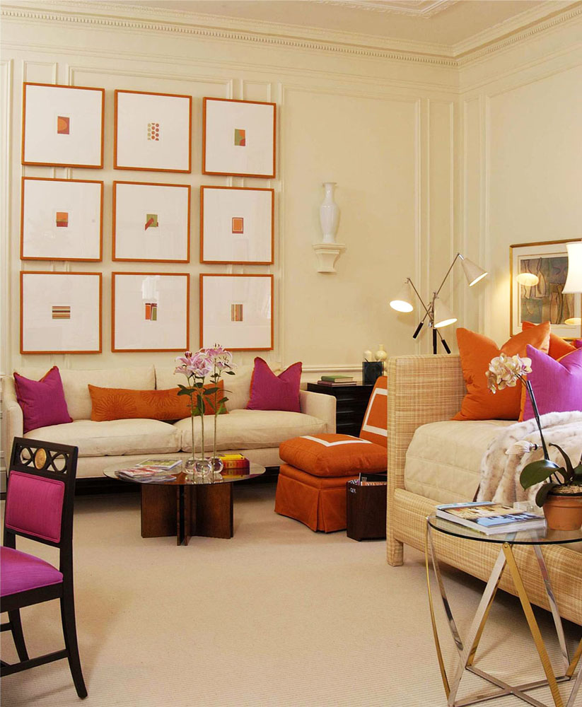 Jazz up your living room with colourful pillows for Jazz living room ideas