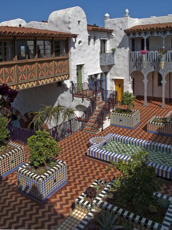 Moroccan Influenced Condominium Complex In Santa Barbara