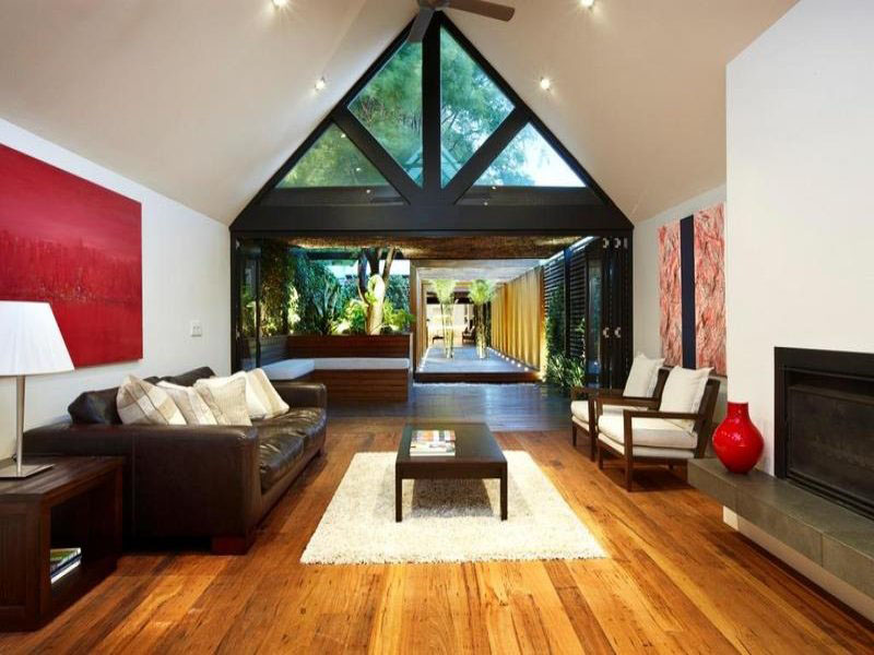 this elegant contemporary home in port melbourne australia sits on a