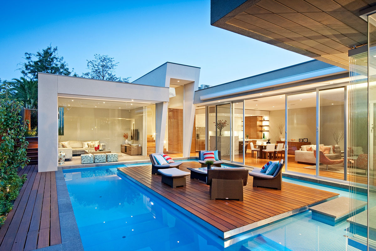 Elegant Modern Home With Integrated Swimming Pool Australia_1