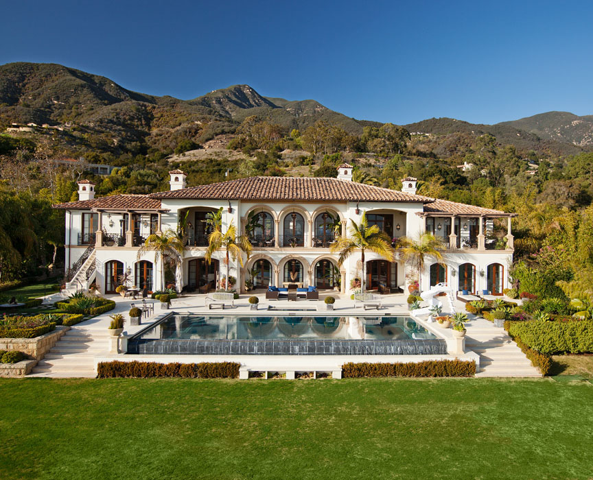 Elegant montecito home with stunning panoramas for Elegant mediterranean homes