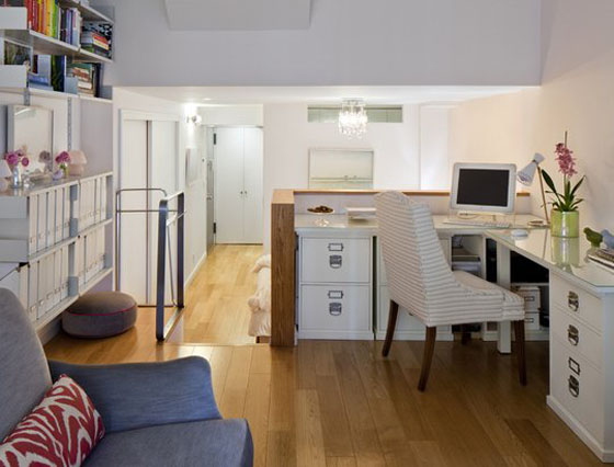 Elegant small studio apartment in new york for Very small studio apartment ideas