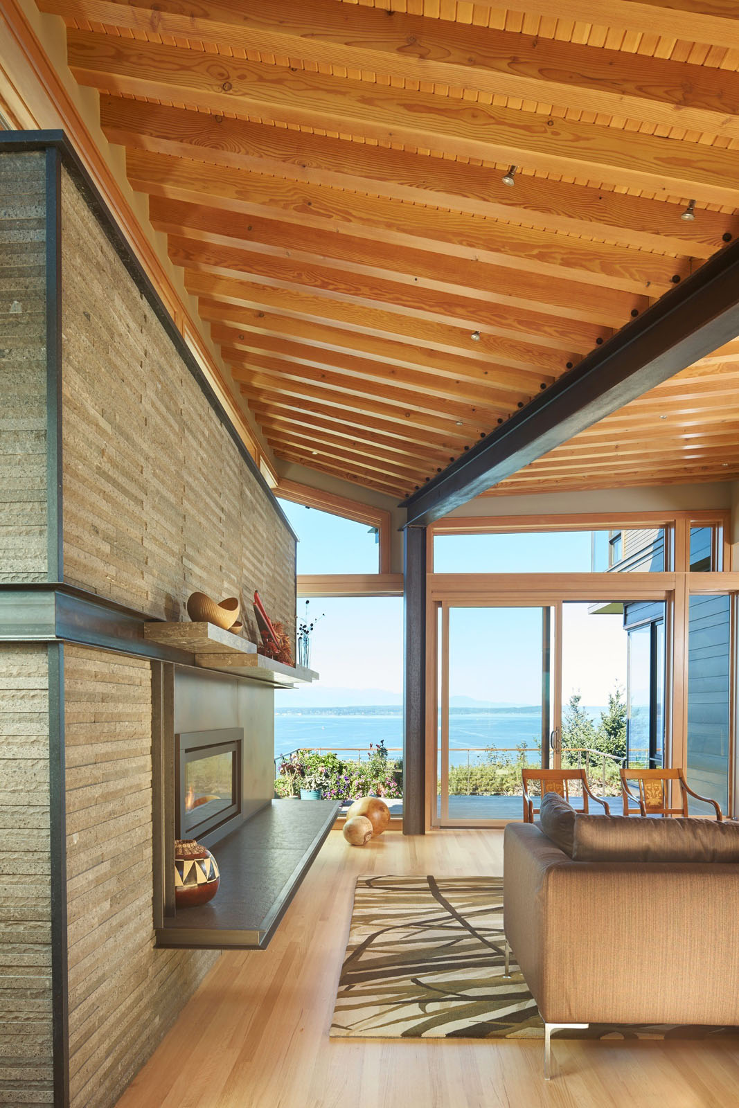 Energy efficient home with sweeping views of puget sound and the olympic mountains idesignarch - Eco friendly large glass windows offering effective energy savings for contemporary residence ...
