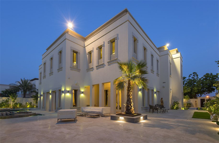 Emirates hills luxury villa in dubai idesignarch for Modern house uae