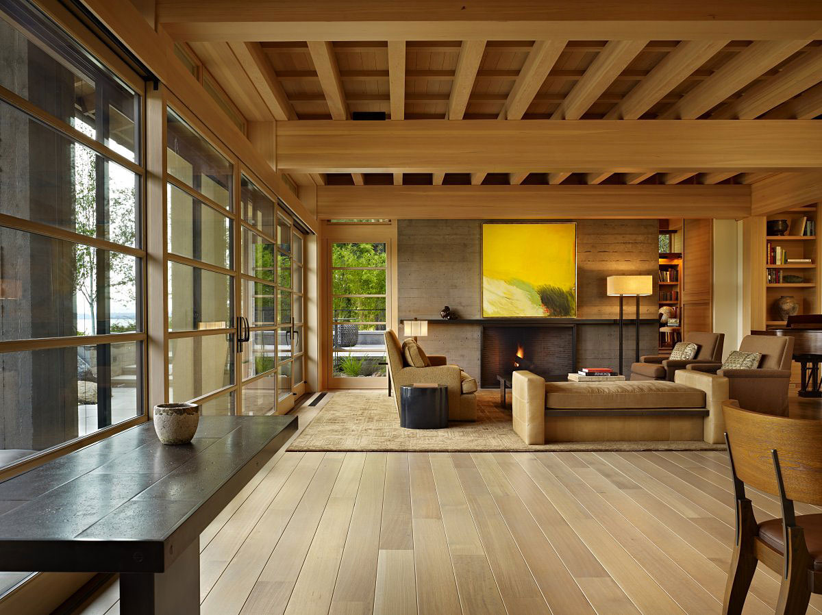 Contemporary house in seattle with japanese influence for Modern homes inside