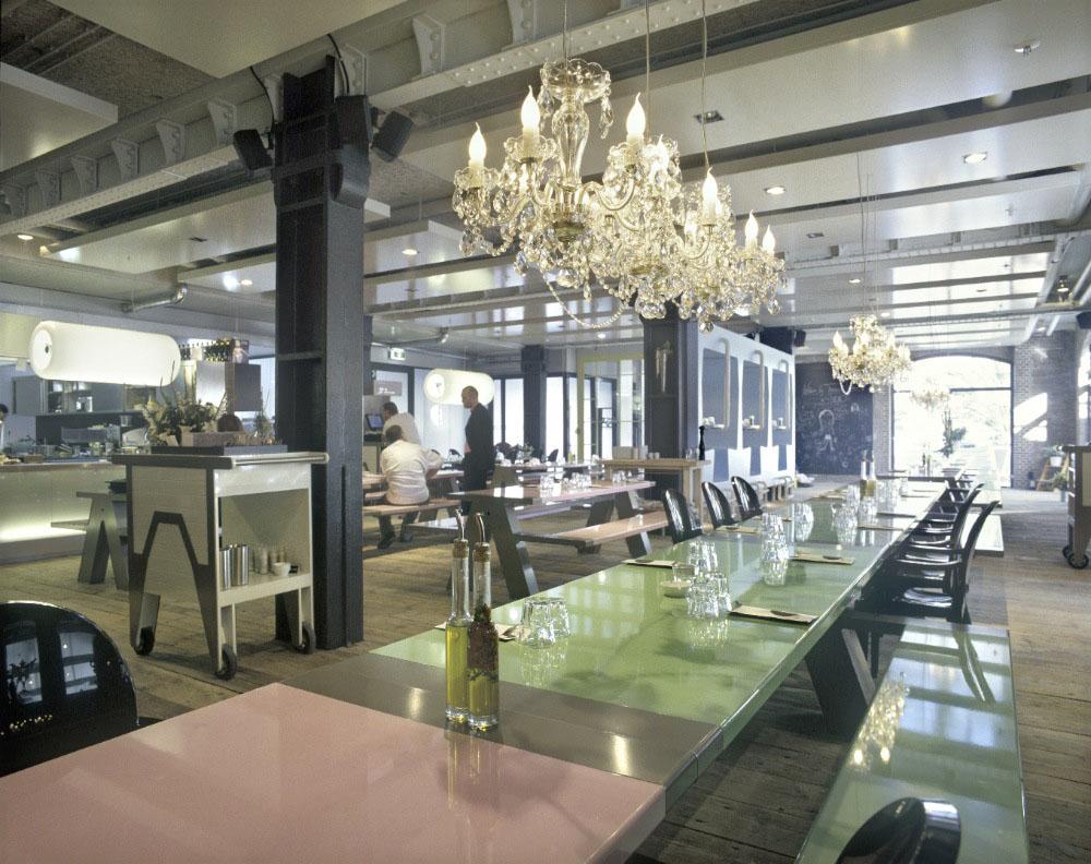 Fabbrica Restaurant – A Romantic Canteen  iDesignArch  Interior