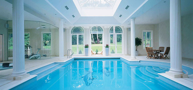 Indoor swimming pools with classical design idesignarch - Inside swimming pool ...