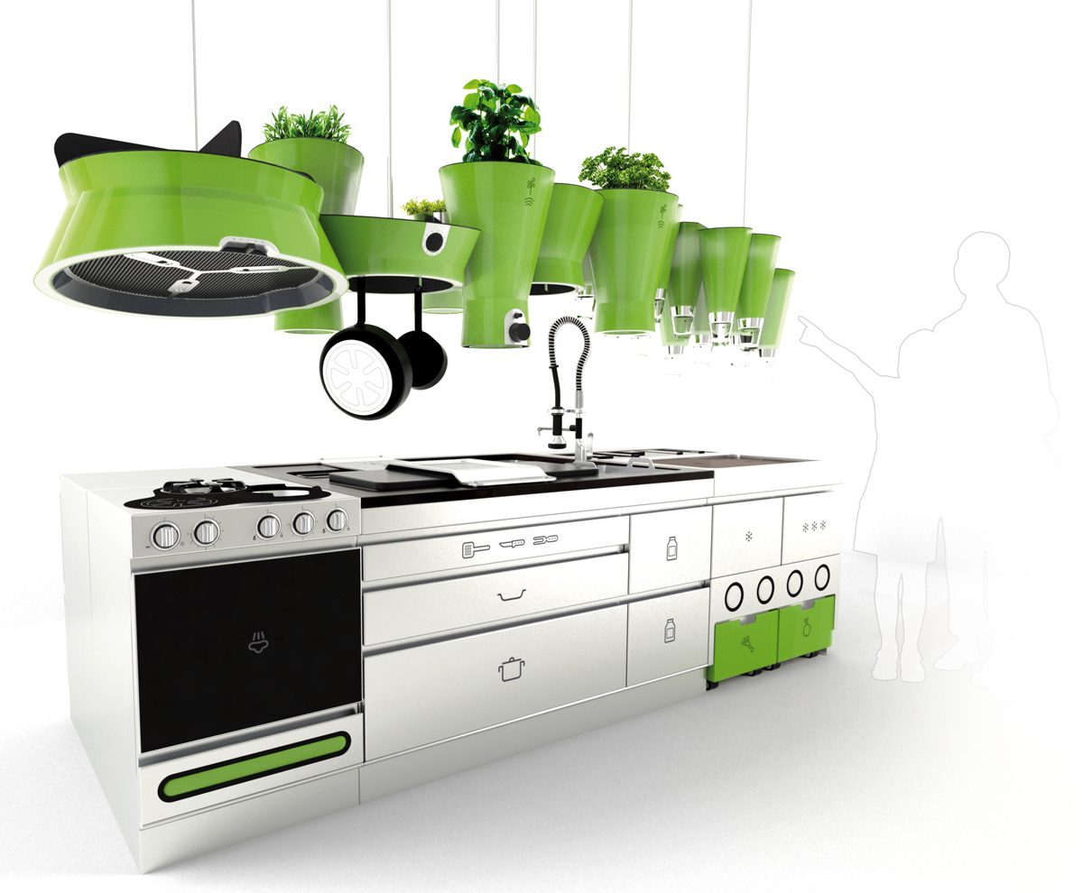 Eco friendly futuristic kitchen idesignarch interior for Eco friendly kitchen products