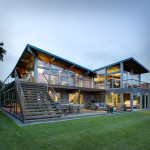 Hurricane-Proof Wood And Steel Waterfront Home On Long Island